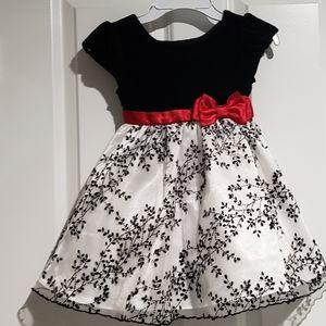 Girls 3T satin velvet holiday party dress